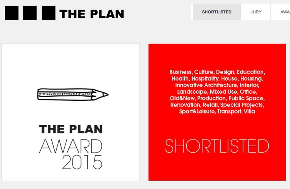 THE PLAN AWARDS 2015 - SHORTLISTED